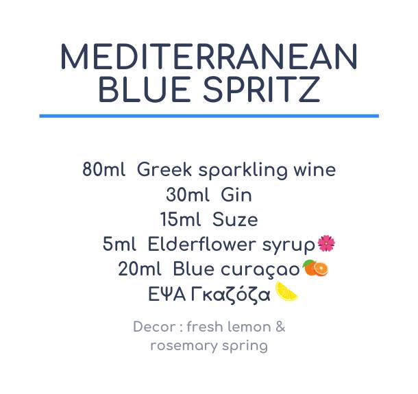 Mediterranean Blue Spritz